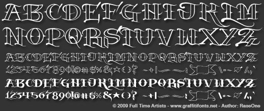 Graffiti Fonts 4 - SkinArt Tattoo Lettering Font