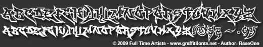 Graffiti fonts 4 wildstyle basics font