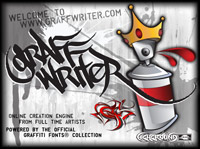Graffwriter.com Powered by Graffiti Fonts
