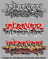 Sleeved Streetwear - sample clothing design using Graffiti Fonts