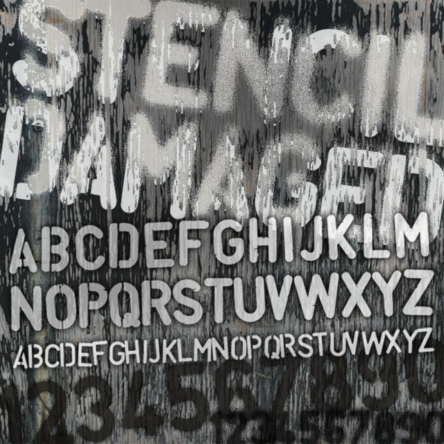 Stencil Font Poster Image