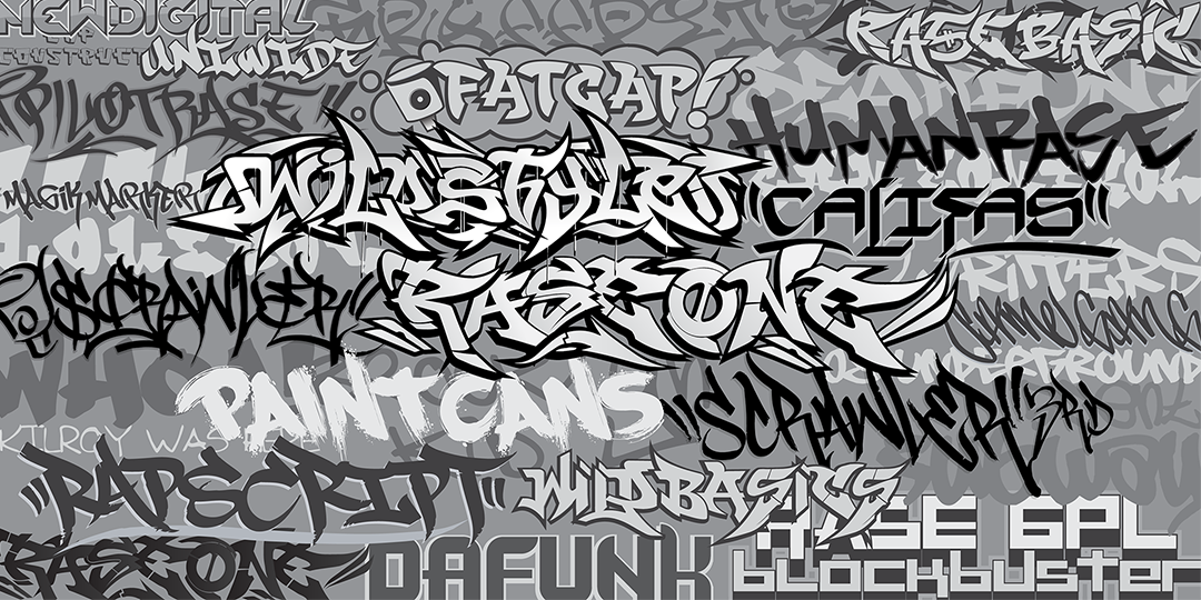 GF3 Graffiti Fonts