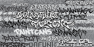 33 graffiti fonts